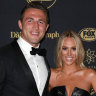 Sam Burgess avoids questions about Phoebe at first event since marriage woes