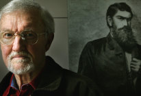 A life's work: historian Ian Jones, widely lauded Kelly Gang  expert, pictured in 2005, has died.