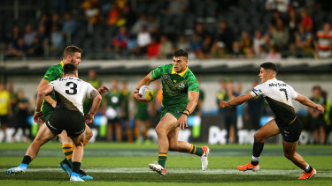David Fifita cuts loose in Australia's opening win over New Zealand.