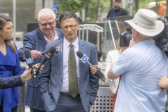 Former Guide Dogs Victoria manager Sandro Cirianni leaving the County Court on Wednesday.