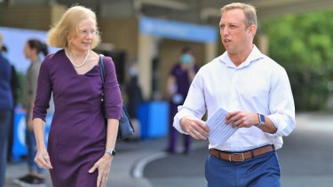 Queensland Chief Health Officer Jeannette Young and Health Minister Steven Miles.