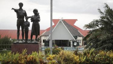 Elections ahead: Vanuatu's Parliament in Port Vila.