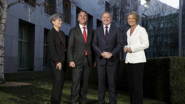 Labor leadership team Penny Wong, Richard Marles, Anthony Albanese and Kristina Keneally.