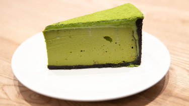 Cedric's matcha-flavoured cheesecakes have won an online following.