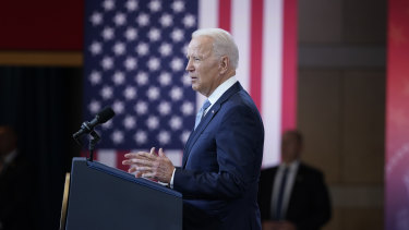 The world is watching: US President Joe Biden slams Republican efforts to restrict voting rights.