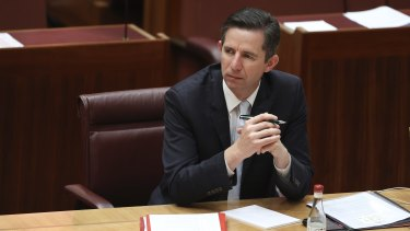 Finance Minister Simon Birmingham has reported a pay offer was voted down by politicians' staff.