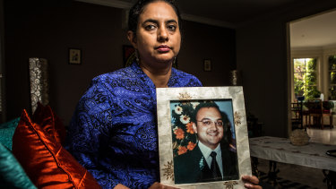 Devika Tutakne's husband Girish was run over and killed while he was legally crossing the road.