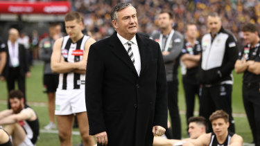Eddie McGuire laments a flag gone begging, after Collingwood lost the 2018 grand final.
