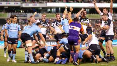 The Brumbies ran up a record victory over the Waratahs in Canberra in round two.