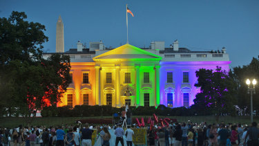 The Obama White House welcomes the legalisation of same-sex marriage in 2015. Donald Trump has been far less supportive.