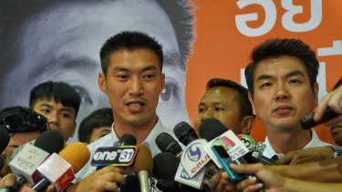 Thanathorn Juangroongruangkit, leader of Future Forward party which emerged as a new political force in the recent Thai election.