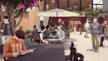 Artist's impression of the laneway adjacent to the Leederville Hotel.