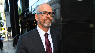 Simon Overland leaves the royal commission on Tuesday.