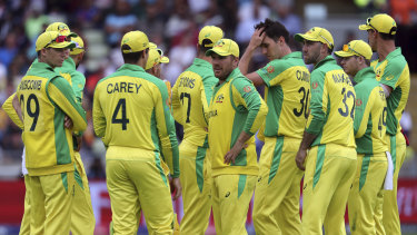 Tough day at the office: Australia come to terms with their thumping World Cup semi-final loss to England.