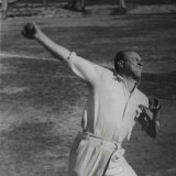 """The """"incomparable"""" leg-spinner Bill """"Tiger"""" O'Reilly on February 17, 1950."""