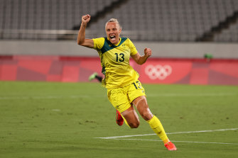 Unfinished business: Only a bronze medal will do for the Matildas after losing their semi-final against Sweden.