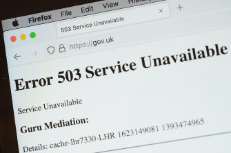 UK government websites' were among those affected.