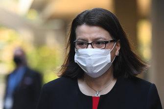 Former health minister Jenny Mikakos resigned over the hotel quarantine program in September.