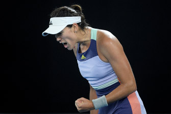 Garbine Muguruza started strongly but was unable to maintain the form against Sofia Kenin.