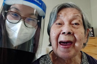 Arcare Maidstone resident Ann Lim, 86, and her granddaughter, Ai-Lin Chang