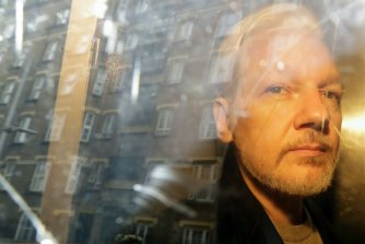 "The panel found ""significant indications"" that Julian Assange, pictured, benefited from Russian government support."