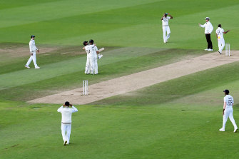 Williamson and Ross Taylor celebrate the winning runs in Southampton.