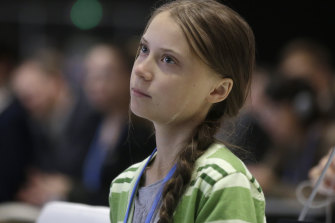 Swedish climate activist Greta Thunberg in Madrid.