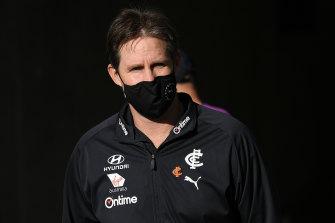 Carlton coach David Teague is under pressure to keep his job.