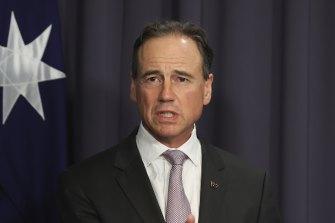 Health Minister Greg Hunt suggested Australia's international border closures could stay in place even if the entire population had been vaccinated against COVID-19.