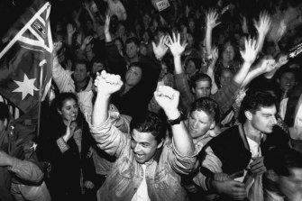 Olympics bid announcement.... Celebrations. September 23, 1993.