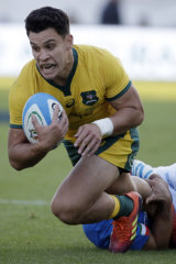 Other half: Matt Toomua in action for the Wallabies against Italy.