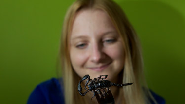 Skye Blackburn's edible insect range includes scorpions.
