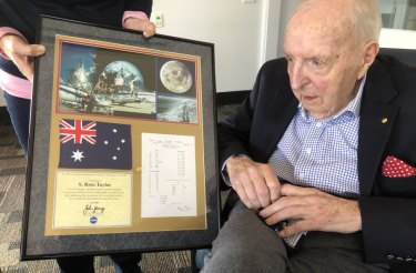 Professor Ross Taylor was the first to analyse a moon rock brought back to Earth by Apollo 11.
