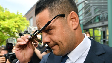 Turmoil: Jarryd Hayne is facing legal action at home and abroad.