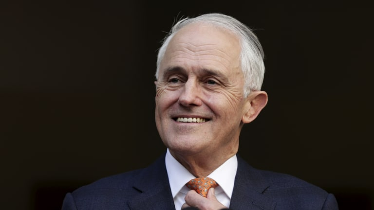 At his final press conference as PM, Malcolm Turnbull was cheerful and upbeat.