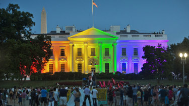 The Obama White House welcomes the legalisation of same-sex marriage in 2015.