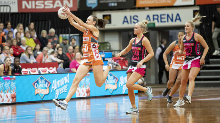 Full throttle: Giants' Bec Bulley.