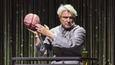 David Byrne gives us a piece of his mind in opening number <i>Here</i>.