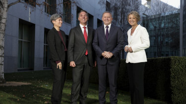 Labor leadership team Penny Wong, Richard Marles, Anthony Albanese and Kristina Keneally.