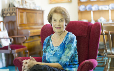 Jan Ruff O'Herne, a former 'comfort woman' in Java during World War II, at her Adelaide home in 2014.