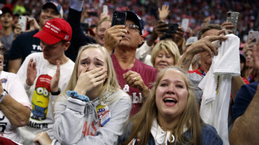 Emotional Trump supporters.