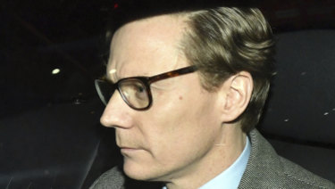 Chief Executive of Cambridge Analytica Alexander Nix leaves the offices in central London after he was suspended.