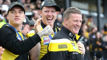 Damien Hardwick ... the day after Richmond's remarkable day.
