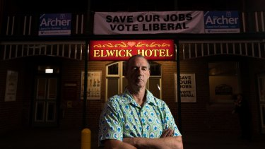 Pat Caplice, in Glenorchy, where he grew up, is leading an anti-poker machine campaign .