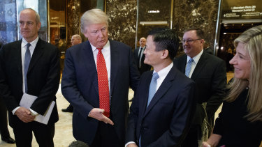 Alibaba Executive Chairman Jack Ma after a meeting at Trump Tower in New York.