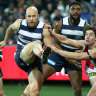 Ablett gets off canvas to help Geelong home against Saints