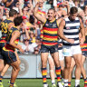 As it happened: Crows stun Cats, Swans upset Lions, Hawks pip Dons after trailing by 40, Dees account for Freo
