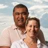 Toutai Kefu and his wife Rachel.