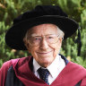 'I have a lot to learn': Australia's oldest PhD student graduates from Perth university