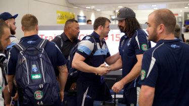 The beaten Blues arrive back to Sydney.